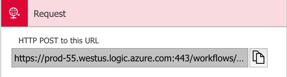 generated webhook URL