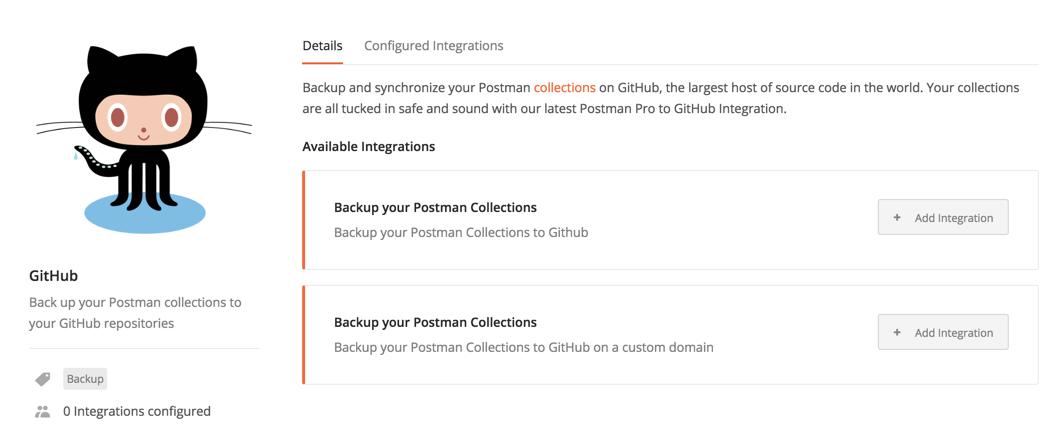 select github integration
