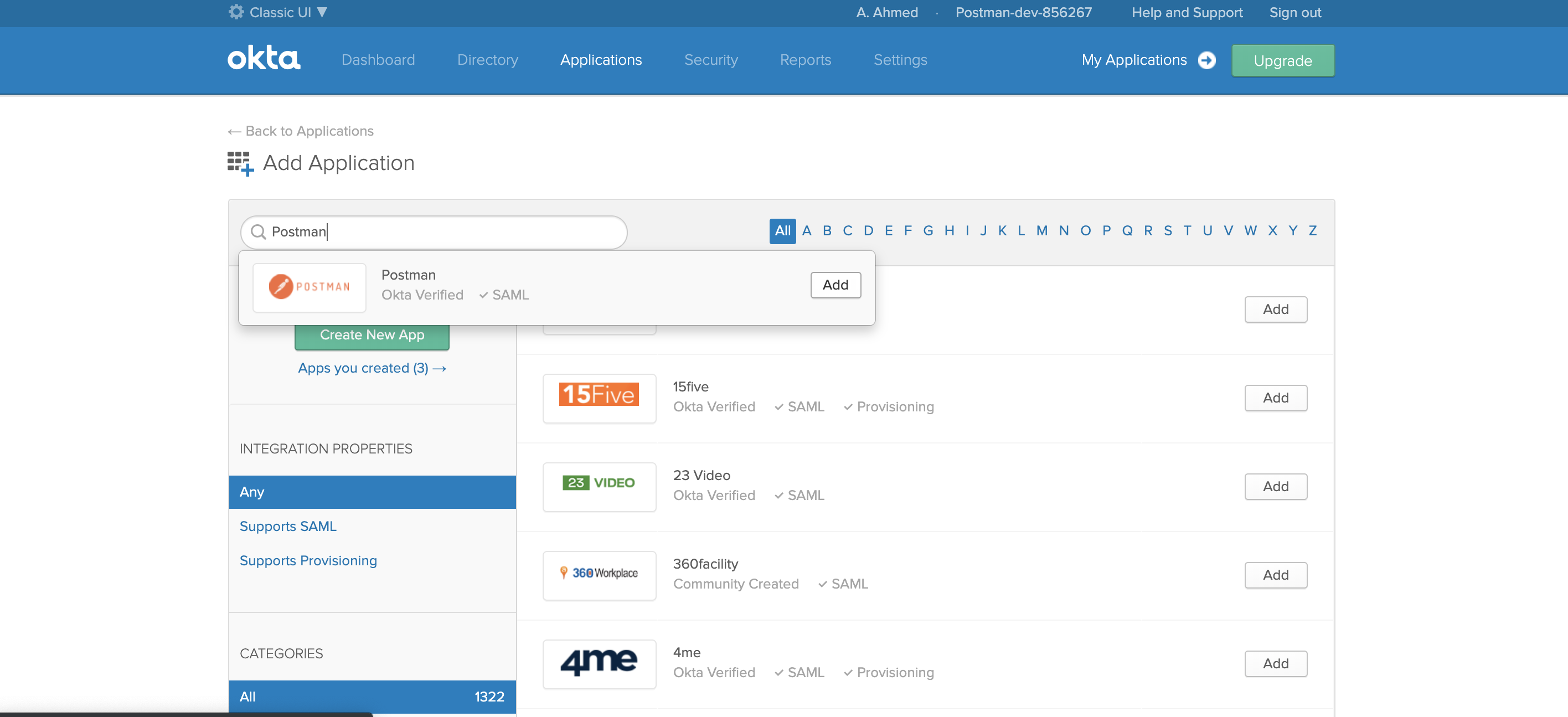 okta add application