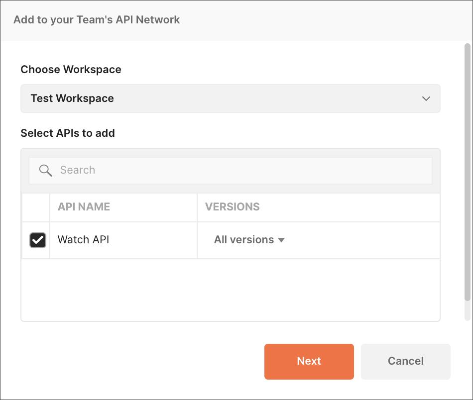 Add API Modal
