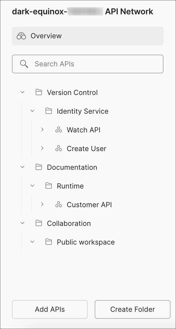 New folder in Private Network