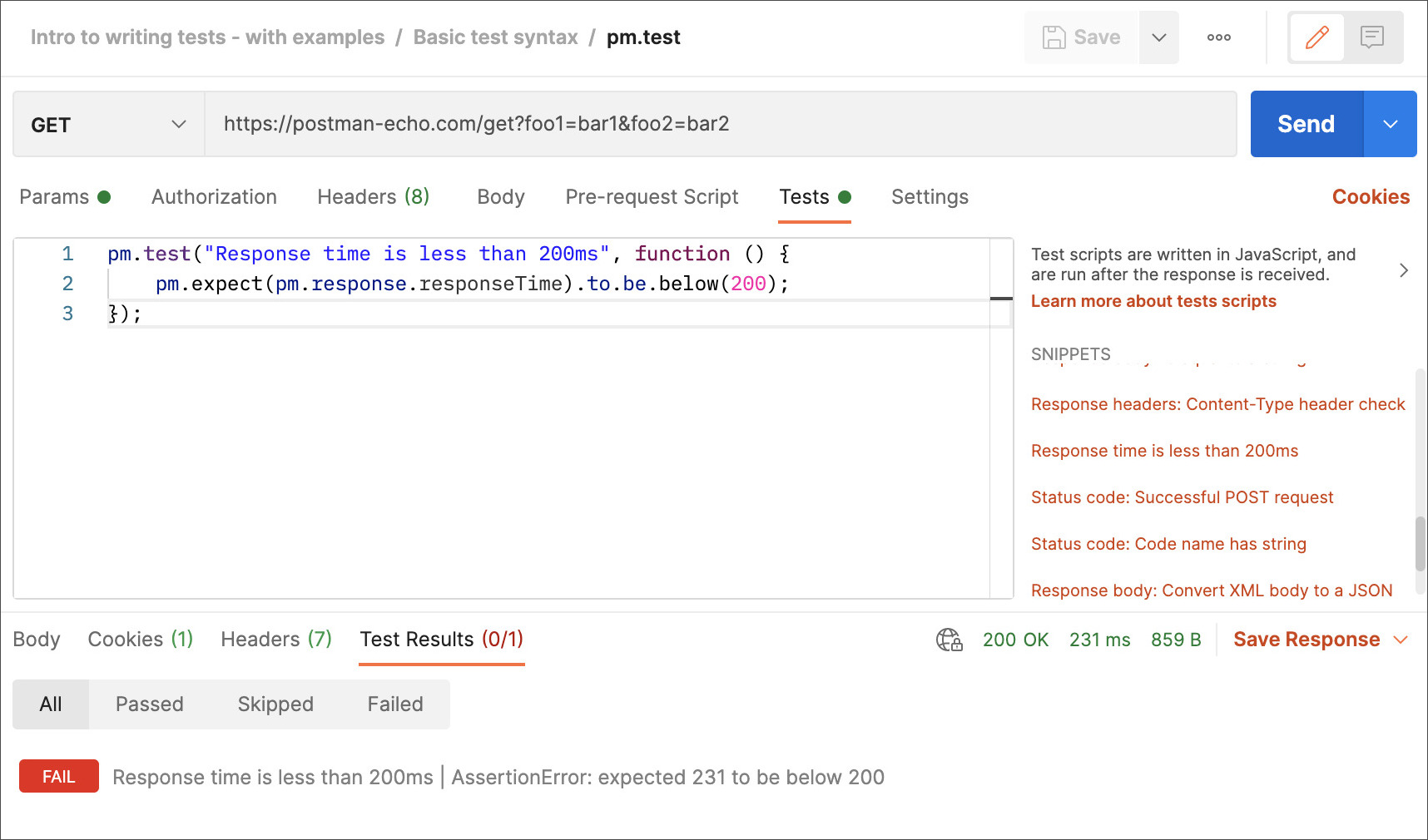 Added Code Snippet