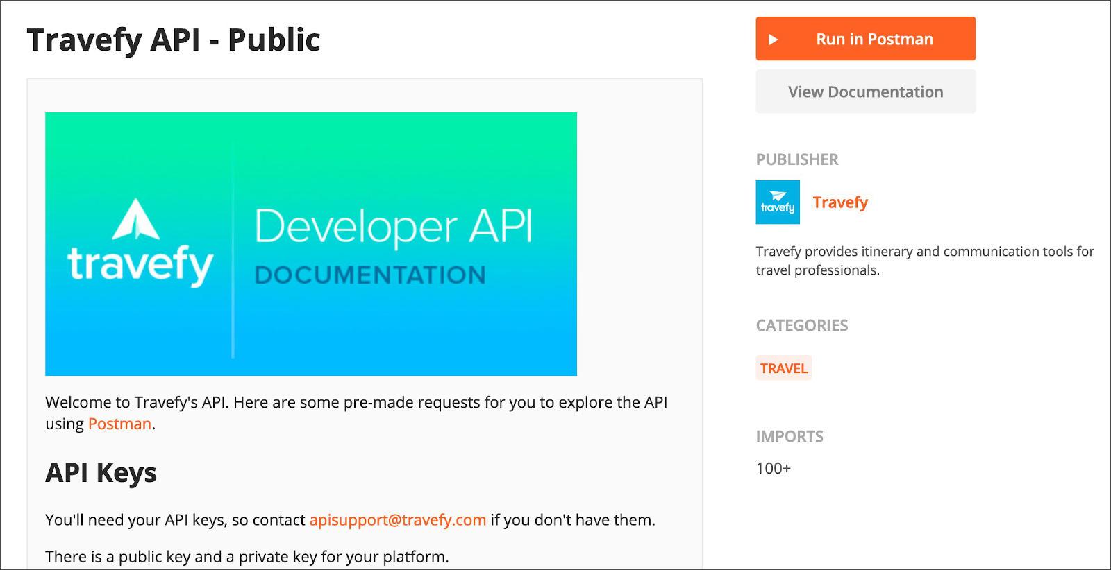 API Listing