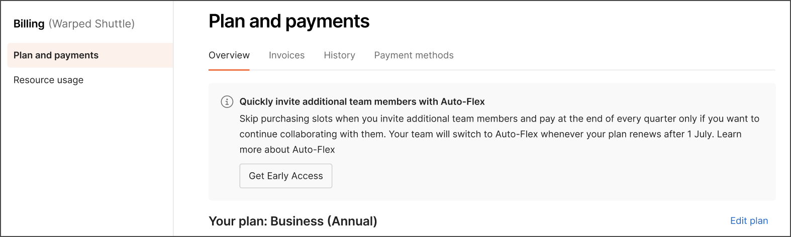 Auto-flex opt in early notification