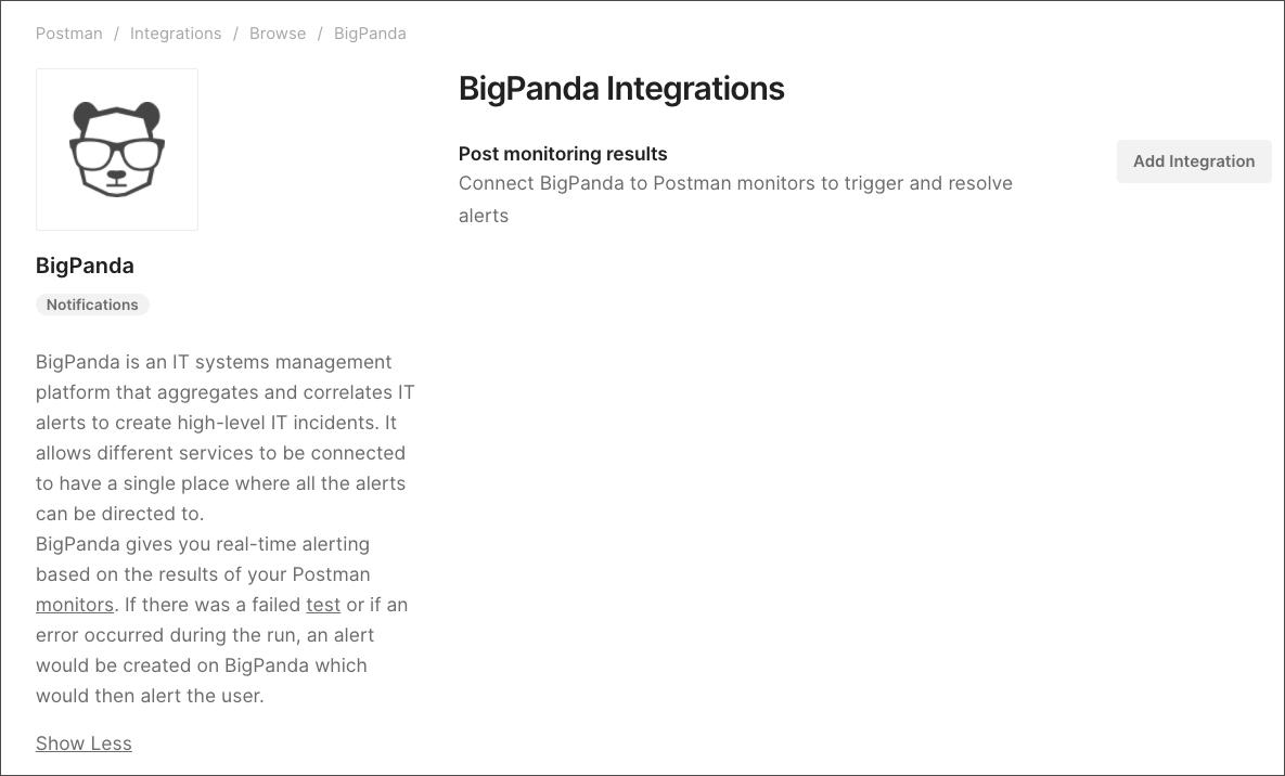 add bigpanda configuration