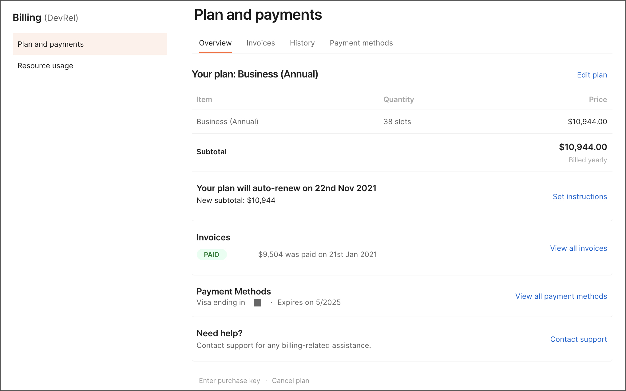 Billing overview