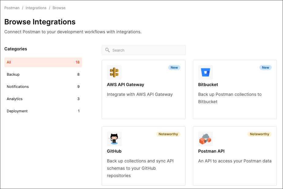 Workspace Integrations