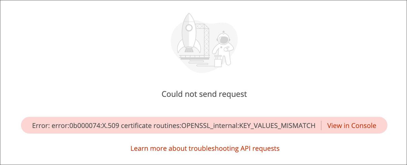 Certificate verification fail