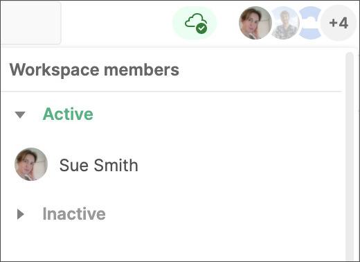 Active user list