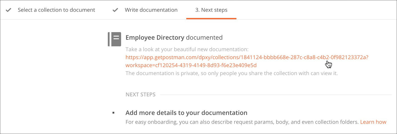 Documenting your API | Postman Learning Center