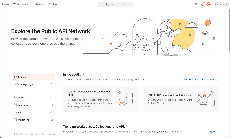 Public API Network page