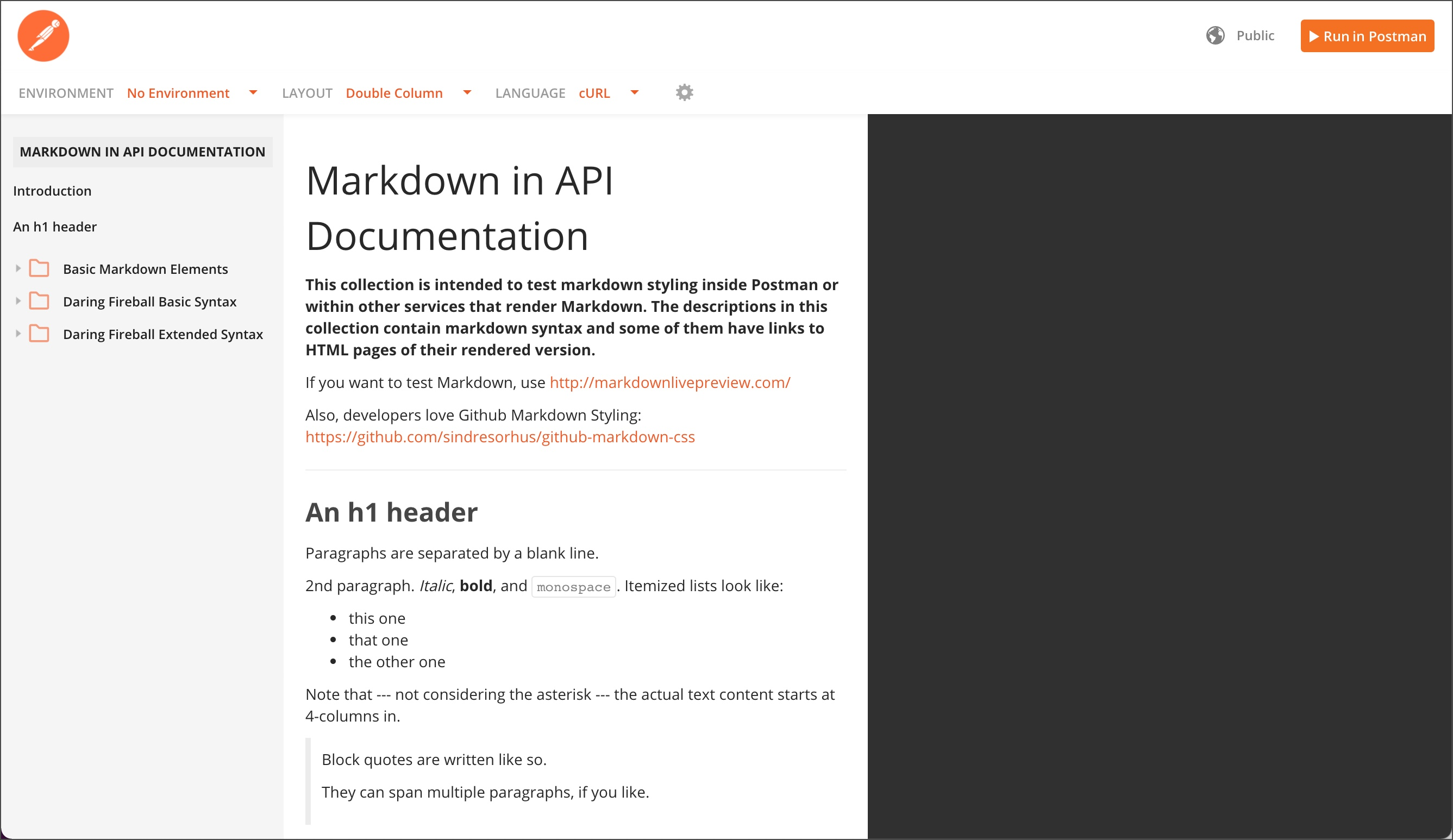 Markdown demo collection