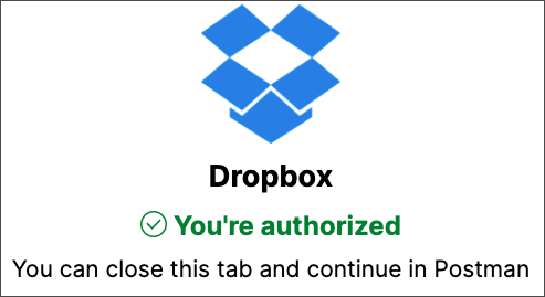 dropbox integration config