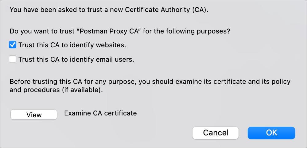 Select trust CA crt