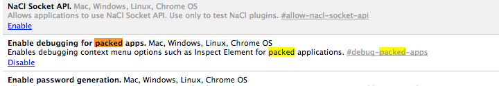 enable in chrome settings
