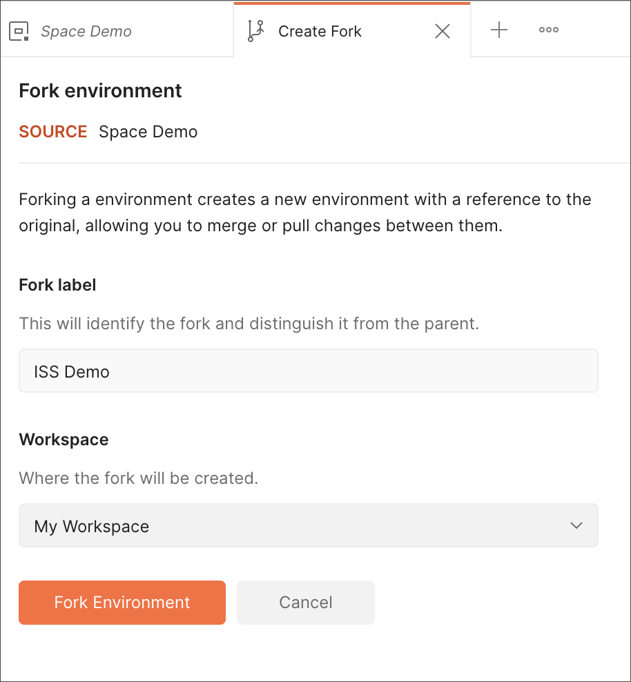 Fork Label Environment
