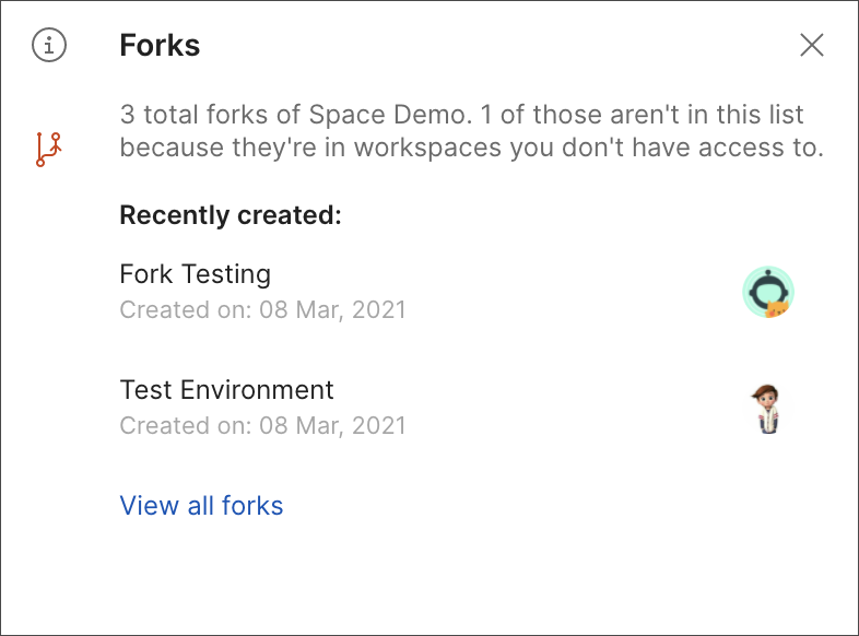 Fork icon overview for v8