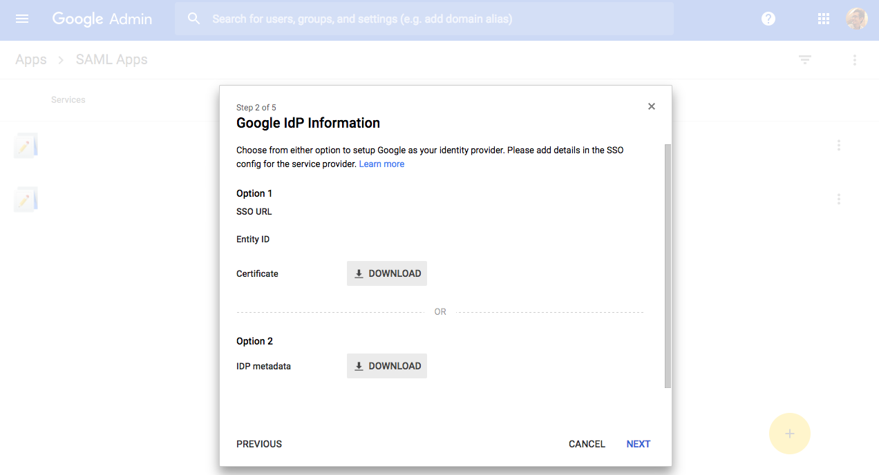 gsuite google IdP