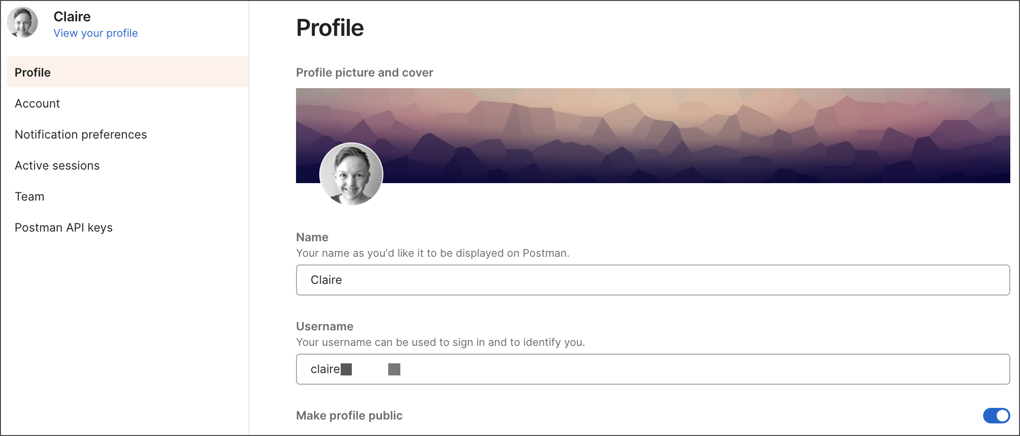Make profile public