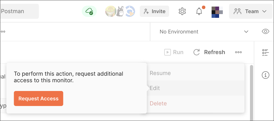 Manage roles request access
