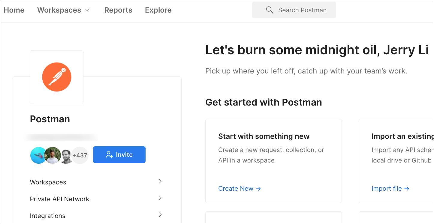 postman home page