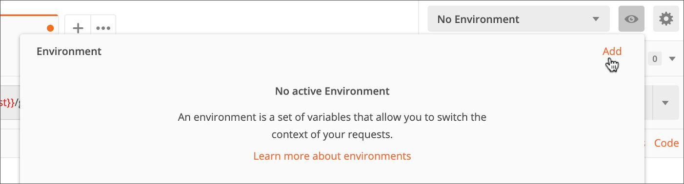 No Active Environment