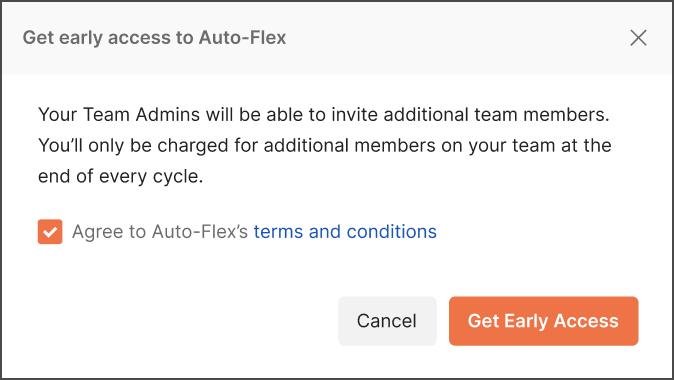 Auto-flex opt in confirmation