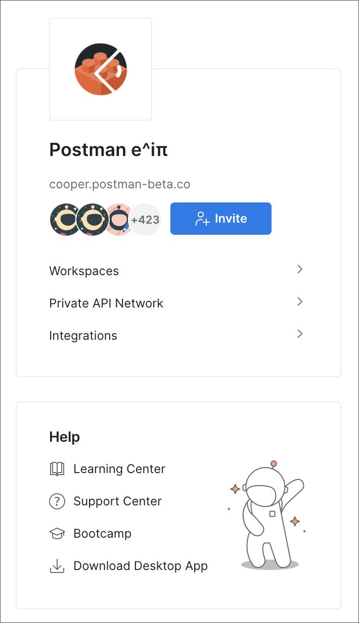 Private API Network Left Navbar