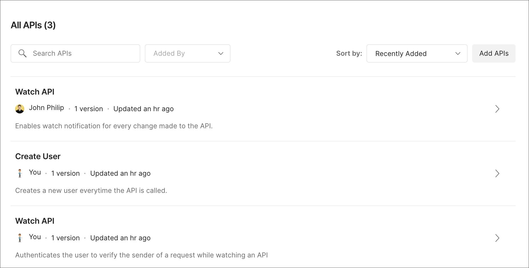 Private API List