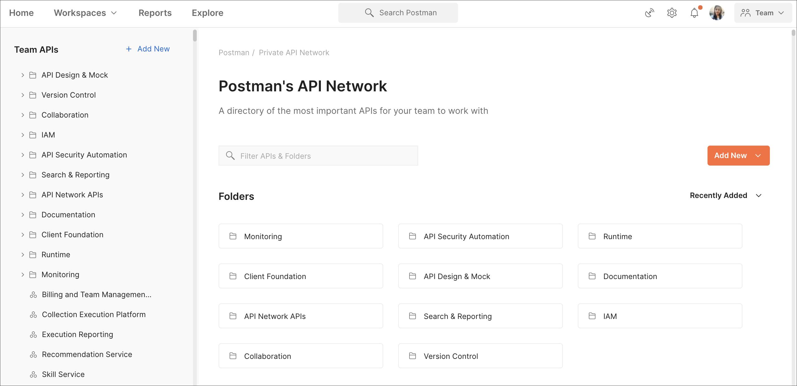 Private API Network