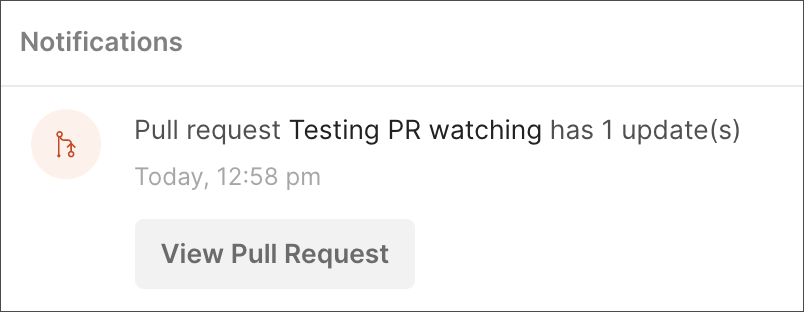 Notification Pull Request Watching