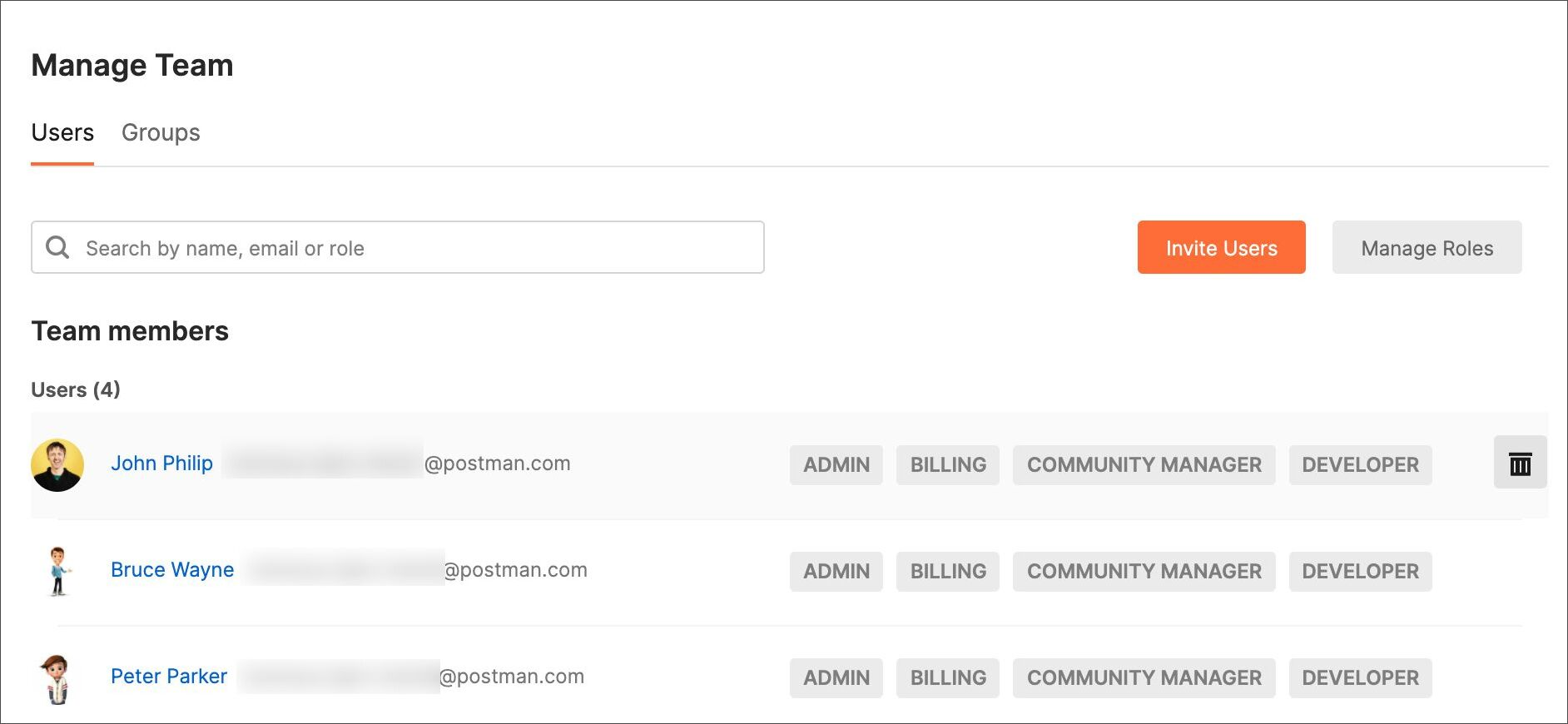 Remove team members for a public workspace