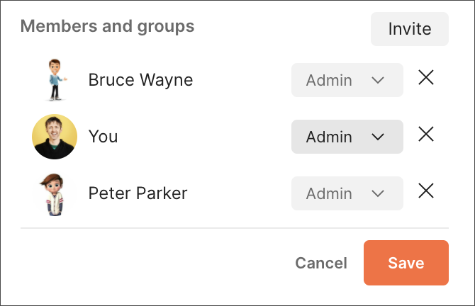 Remove members for a public workspace from overview