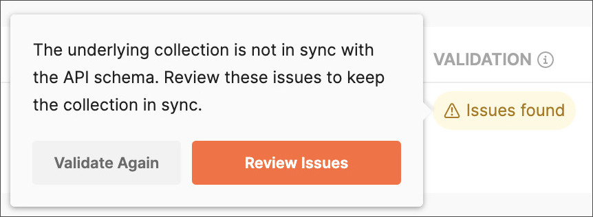 Review validation issues