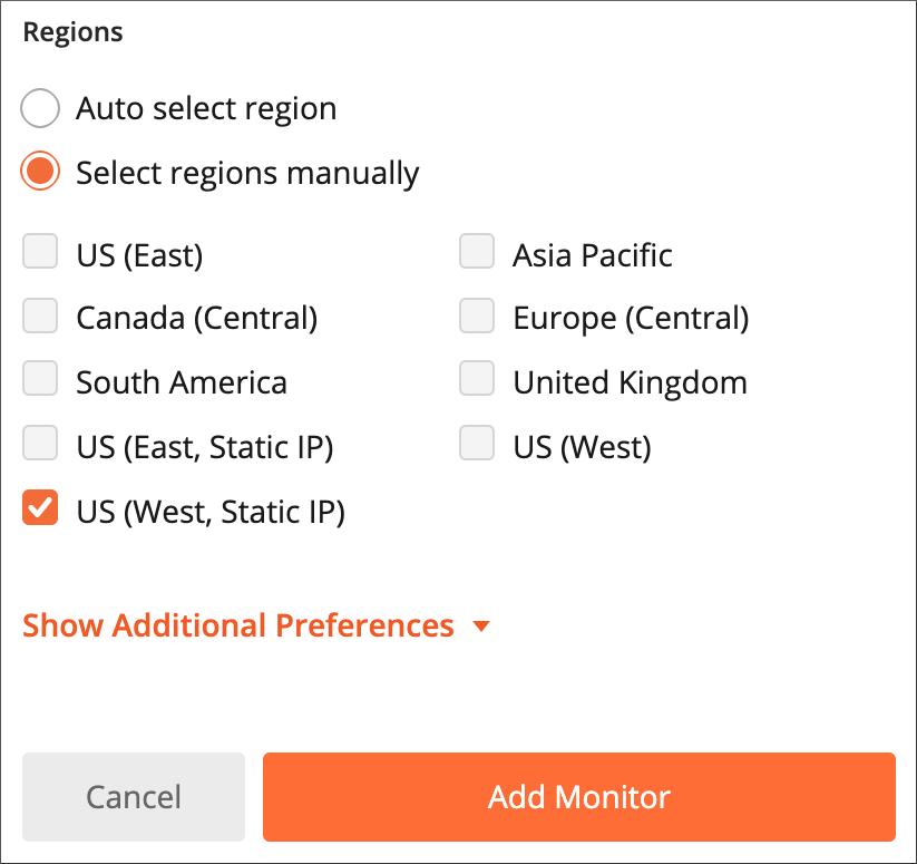 Select regions