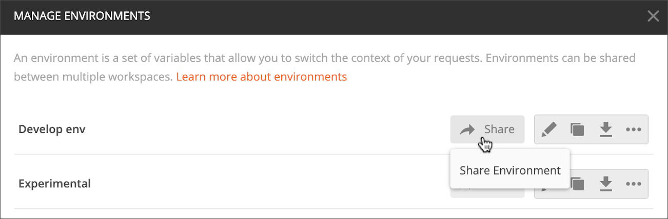Share environment