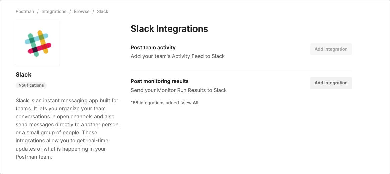 select slack integration