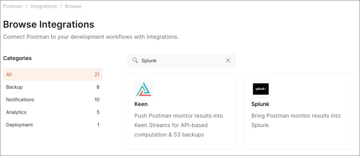 splunk integrations search all