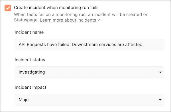 Statuspage create incident