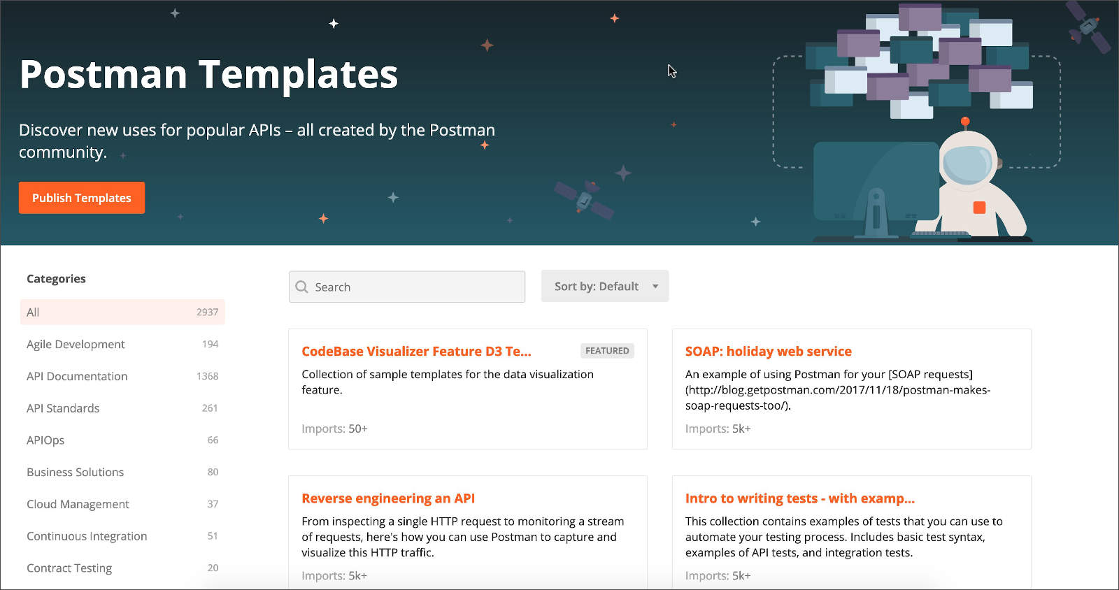 Templates Homepage