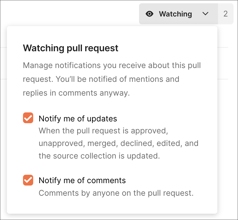 Conditions for watch notifications