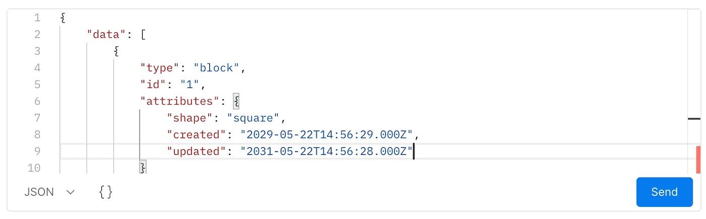 WebSocket message editor